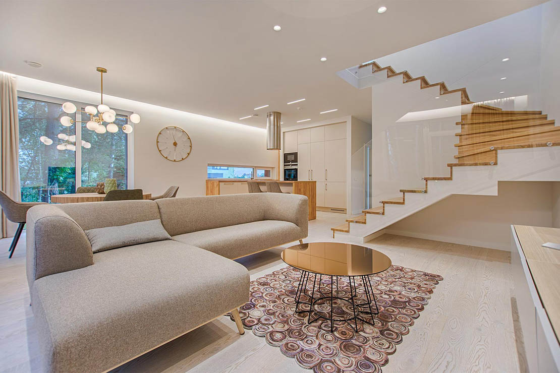 Wohnzimmer mit luxuriöser Einrichtung